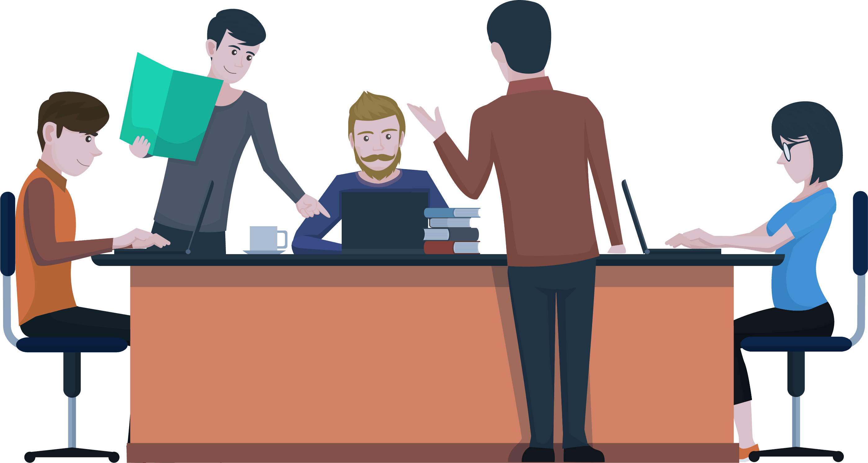Illustration representing a Web Agency